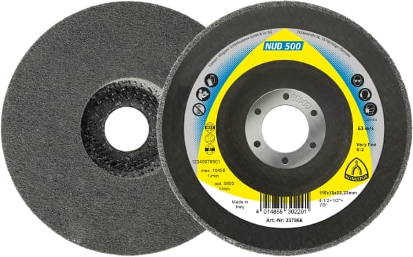NUD 500 — High performance non-woven web wheels for Alloyed